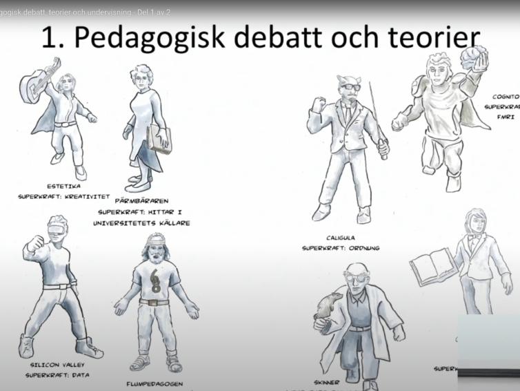 Pedagogisk debatt, teorier och undervisning. En föreläsning av Jonas Linderoth